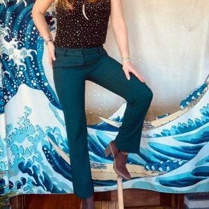NY&CO green tweedy pants. 6